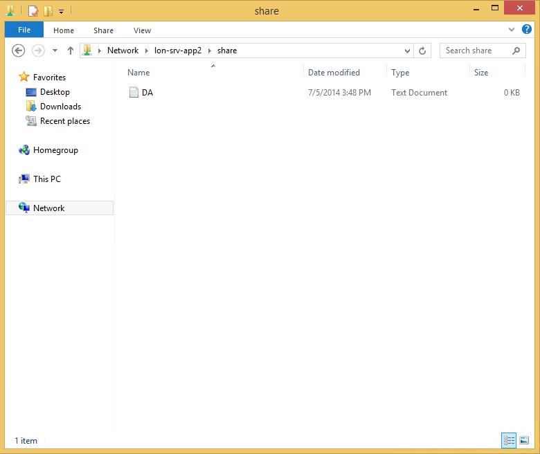 Тестирование доступа к файловому серверу