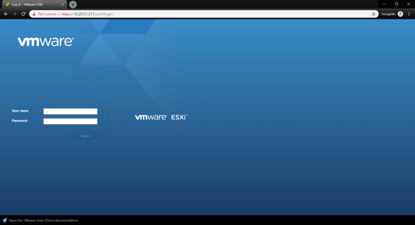 Веб-клиент управления ESXi гипервизором