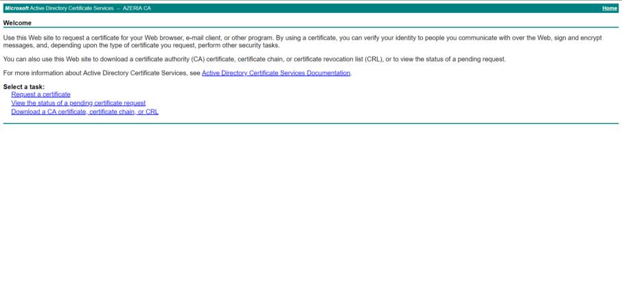 CA Web Enrollment