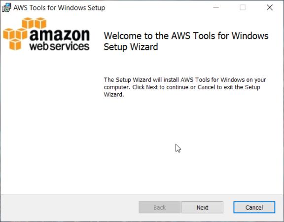 Мастер установки AWS Tools для PowerShell