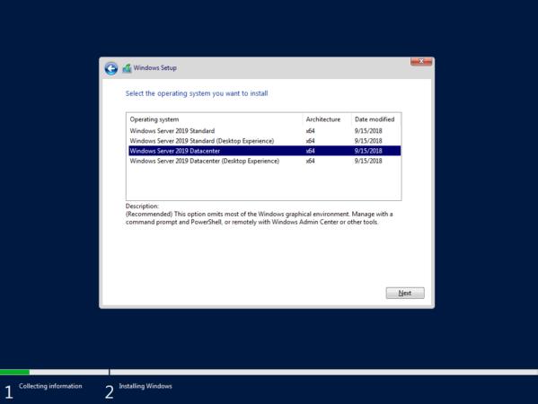 Windows Server 2019 Standard и Datacenter