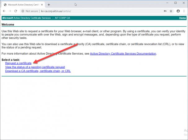 Запрос выпуска сертификата в Certificate Enrollment Web Service